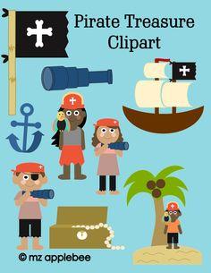 Pirate Treasure Clipart | 11 Original Images for Seafaring Fun!