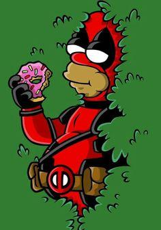 Deadpool homer, the simpsons Simpsons Drawings, Simpsons Art, Futurama, Hero Marvel, Marvel Dc, Simpson Wallpaper Iphone, Simpsons Characters, Animation, Cartoon Art