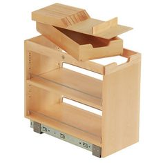 FindIT Kitchen Storage Organization Base Cabinet Pullout with Slide and Knife Tray