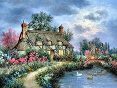 Cottage in the Glen ~ Dennis Patrick Lewan
