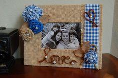 Burlap Frame Rustic Love Family Children by KottageInspirations