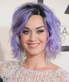 The singer debuted this look at the Grammys in February 2015 and suddenly people were like, all purple all the time.