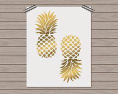 Preppy Printshop: New Arrivals Gold Pineapple Print