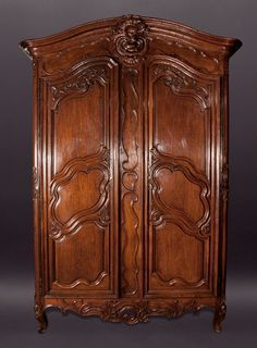 Louis XV Walnut Armoire
