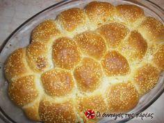 Ψωμί σε μπάλες γεμιστές με τυρί #sintagespareas #psomimetiri
