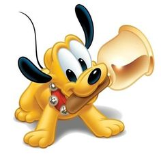 Pluto - Disney And Cartoon Baby Images Pluto Disney, Disney Mickey, Retro Disney, Disney Kunst, Disney Fan Art, Baby Cartoon Characters, Christmas Cartoon Characters, Cartoon Clip, Dog Clip Art