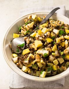 Wild Rice, Pear, and