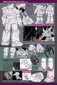 Mobile Suit Gundam The Origin: Mechanical Archives - Image Gallery Robot Series, Gundam Mobile Suit, Gundam Art, Super Robot, Mechanical Design, Gundam Model, Cyberpunk, Line Art, Art Reference