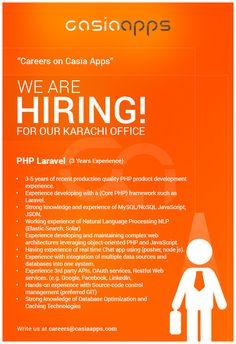 PHP Laravel – technology Computer Science Degree, Web Development, Product Development, Natural Language, We Are Hiring, Php, Digital Marketing, Career, Carrera