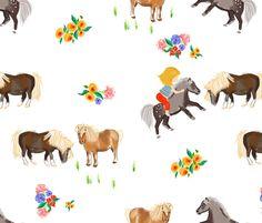 miniature pony fabric by wingmade on Spoonflower - custom fabric