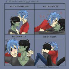 2d And Murdoc, Kiss Meme, Gorillaz Fan Art, Beautiful Voice, I Love Anime, Attack On Titan, Kitten, Fandoms, Hero