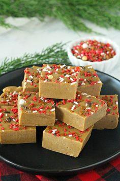 Gingerbread Fudge #ChristmasSweetsWeek