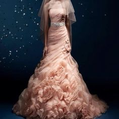 Gorgeous pink wedding gown!