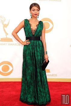 Sarah Hyland in Carolina Herrera at the 2013 Emmy Awards | Tom & Lorenzo