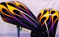 Epic Firetrucks Engine Paint ~ Nub Grafix ~ Source by rudymanente Custom Motorcycle Paint Jobs, Custom Paint Jobs, Custom Motorcycles, Custom Art, Air Brush Painting, Car Painting, Pinstripe Art, Custom Tanks, Motorcycle Tank