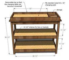 DIY changing table