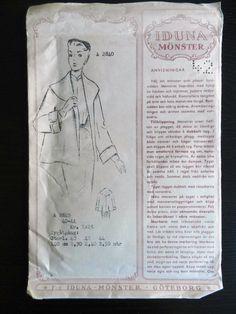 Iduna Mönster 2840. Sewing Patterns, Arm, Personalized Items, Retro, Vintage, Arms, Vintage Comics, Patron De Couture, Retro Illustration
