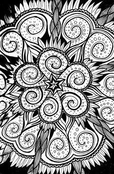 """Zentangle (2) Full"" by nemorosastudio   Redbubble"