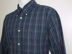 Brooks Brothers Slim Fit Plaid Shirt Button Down Collar All Cotton Large NEW NWT #BrooksBrothers #ButtonFront