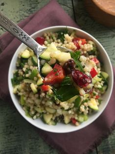 Israeli Couscous Salad with Lemon Dressing