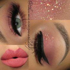Beauty Products: Make-up Makeup Goals, Makeup Inspo, Makeup Inspiration, Makeup Tips, Pink Makeup, Cute Makeup, Hair Makeup, Eye Base, Braut Make-up