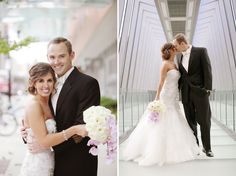 Posy, The Finer Things Events, red gallery photo, Cara + Erik | HIlton Downtown Columbus, wedding, purple, bling, orchid bouquet