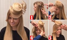 Russian stylist Georgy Kot shared this timelapse tutorial showing how to create a top hat-shaped hairstyle. The intricate look involves teasing the hair into a bun, then adding a rim and feathers.