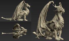 Dragon sculpt by gugu-troll on deviantART