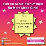 No More Mean Girls! Tip #6 - Smile - WIth Your Mouth & Your Eyes