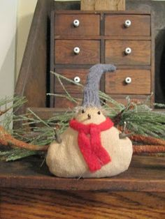 Little snow baby, now on sale at Green Creek Primitives blog