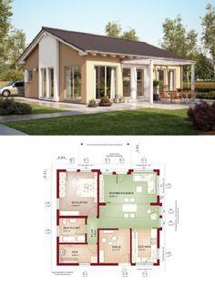 Bungalow Fassade bungalow evolution 100 v7 bien zenker moderner grundriss haus
