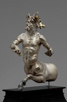 """Rhyton in the form of a Centaur Greek Seleucid Hellenistic period ca. 160 B. Silver with gilding Antikensammlung, Kunsthistorisches Museum, Vienna """"Pergamon and the Hellenistic Kingdoms of the Ancient World"""" Hellenistic Art, Hellenistic Period, Ancient History, Art History, Kunsthistorisches Museum Wien, Empire Romain, Art Antique, Greek Art, Mythological Creatures"""