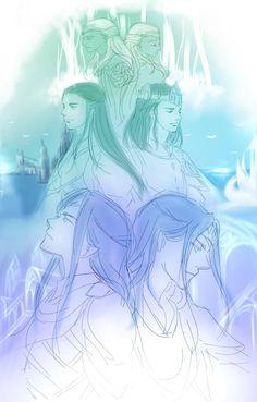 Twins: Elúred and Elúrin; Elrond and Elros; Elladan and Elrohir