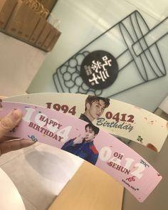 Exo Birthdays, Cup Sleeve, Kpop Merch, Kpop Aesthetic, Sehun, Nct, Idol, Happy Birthday, Bullet Journal