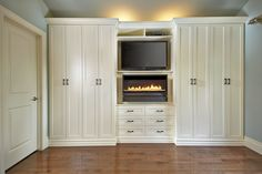 Antique White Wall Unit Contemporary Bedroom Toronto With Modest Design
