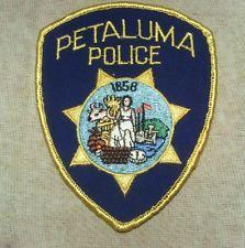 CA Petaluma California Police Patch