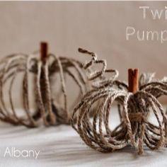DIY Twine Pumpkins {fall crafts}