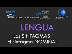 Los sintagmas. El Sintagma Nominal - Análisis sintáctico Lengua Española sintaxis - academia JAF - YouTube
