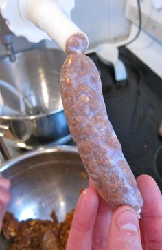 Homemade andouille sausage - would have to smoke them after this process. Homemade Sausage Recipes, Cajun Recipes, Pork Recipes, Cooking Recipes, Free Recipes, Charcuterie, Home Made Sausage, How To Make Sausage, Sausage Making
