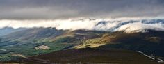 Ben Macdui, Scotland, Cairngorms, mountains, landscape, hills, nature, clouds, green, blue by PicClick on Etsy