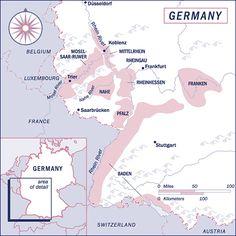 Wine Maps- Germany