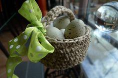Basket made of string, Knit Basket, Happy Easter, Pink Grey, Free Crochet, Crochet Patterns, Knitting, Creative, Blog, Crafts