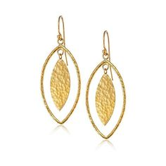 GURHAN 24k Gold Willow Geo Marquise Drop Earrings – Discount Designer Jewelry found on Polyvore