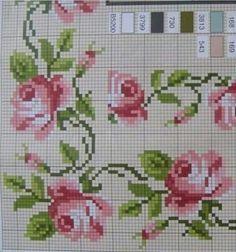 İsim: Görüntüleme: 378 Büyüklük: KB (Kilobyte) - My site Cross Stitch Rose, Cross Stitch Borders, Cross Stitch Flowers, Cross Stitch Charts, Cross Stitch Designs, Cross Stitching, Cross Stitch Embroidery, Cross Stitch Patterns, Crochet Edging Patterns