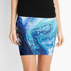 'Sorcery' Mini Skirt by Eibonart Knitted Fabric, Tie Dye Skirt, Sequin Skirt, Mini Skirts, Framed Prints, Slim, Knitting, Unique, Shirts