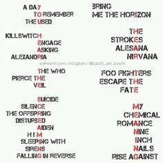 I may not listen to all of these bands, but I love this so much.