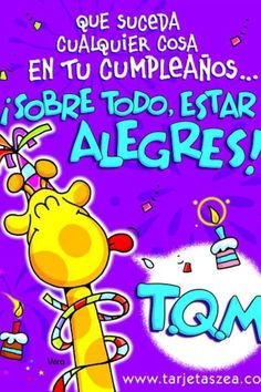 Cumple Happy Birthday Parties, Happy Birthday Quotes, Happy Birthday Images, Birthday Messages, Happy Birthday Cards, Birthday Greetings, Birthday Wishes, Gods Love Quotes, Cute Words