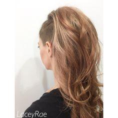 #rosegold #shavedsides #shavedhair #balayage #athenshairsalon #athenshair #pageboysalon #pageboysalonathens