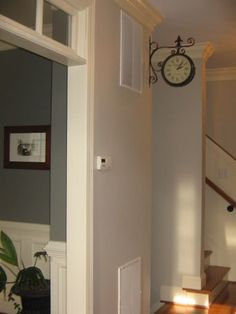 revere pewter with chelsea gray | Revere Pewter adjacent to Chelsea Gray (both Benjamin Moore).