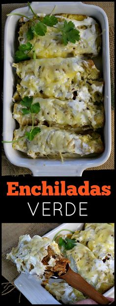 Pork enchilada verde recipe. Mexican casserole made easy by cooking pork in the crockpot or Dutch Oven. Simply cheesy and delicious! via /lannisam/
